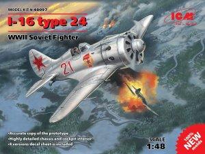 I-16 type 24, WWII Soviet Fighter  (Vista 1)