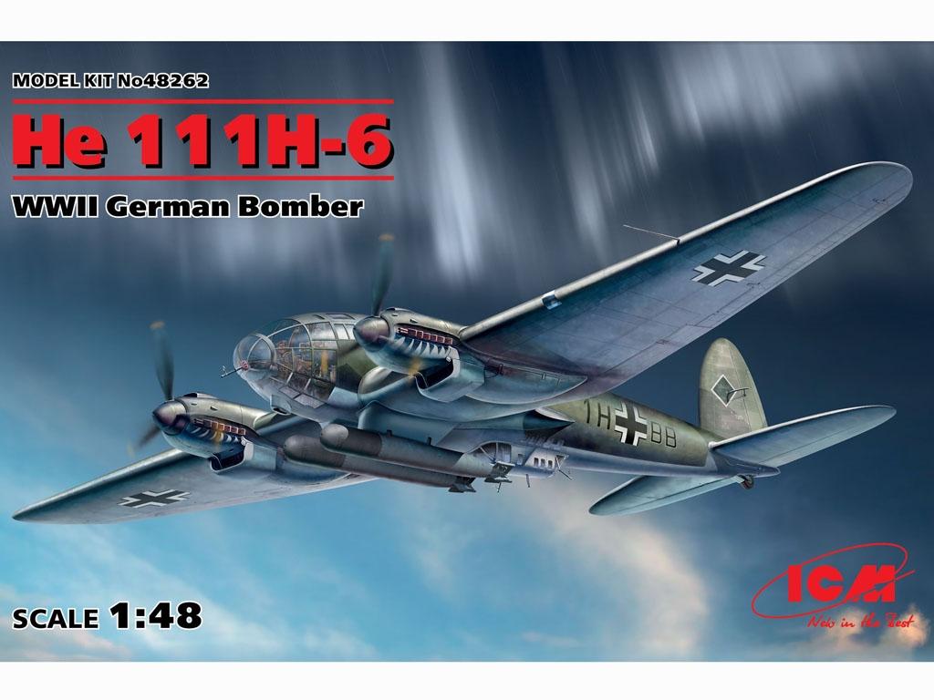 He 111H-6, WWII German Bomber  (Vista 1)