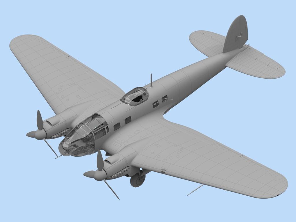 He 111H-6, WWII German Bomber  (Vista 2)