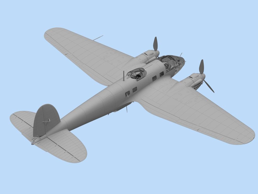 He 111H-6, WWII German Bomber  (Vista 3)