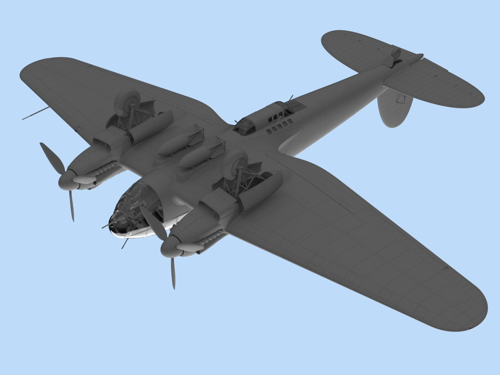 He 111H-6, WWII German Bomber  (Vista 4)