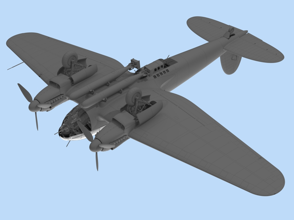 He 111H-6, WWII German Bomber  (Vista 5)