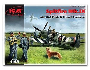 Spitfire Mk.IX with RAF Pilots and Groun  (Vista 1)