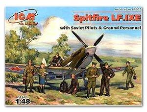 Spitfire LF.IXE with Soviet Pilots and G  (Vista 1)