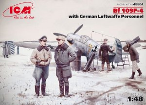 f 109F-4 with German Luftwaffe Personnel  (Vista 1)