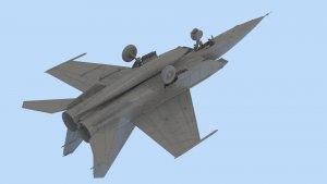 MiG-25 RBT, Soviet Reconnaissance Plane  (Vista 4)