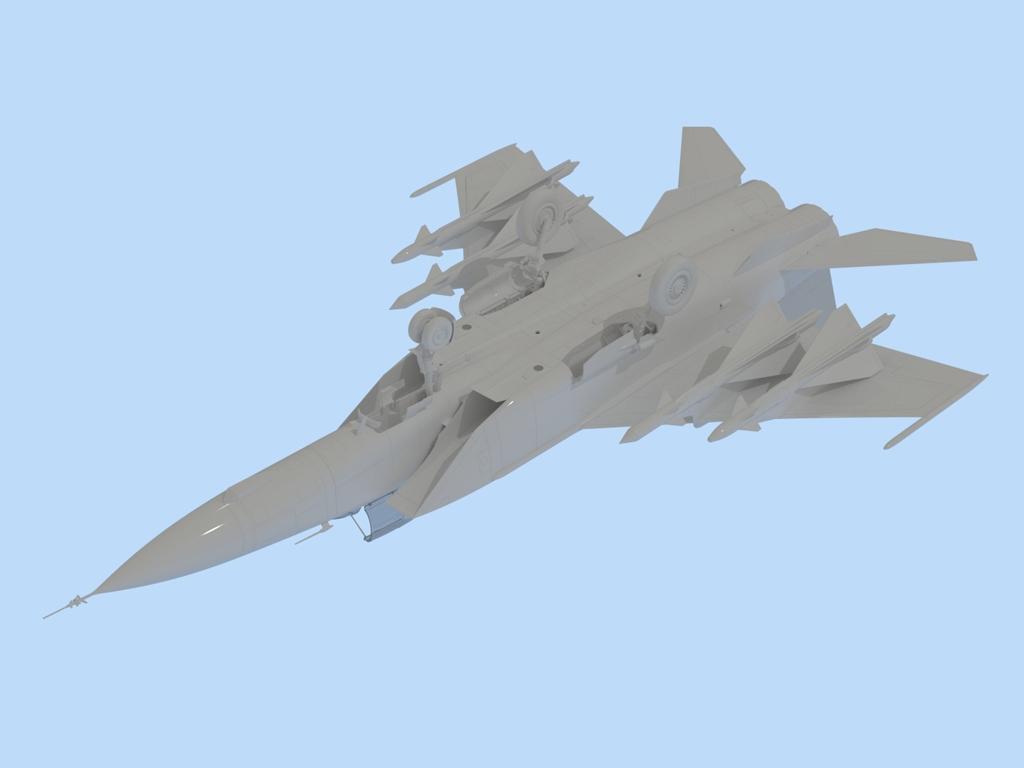 MiG-25 PD, Soviet Interceptor Fighter  (Vista 3)