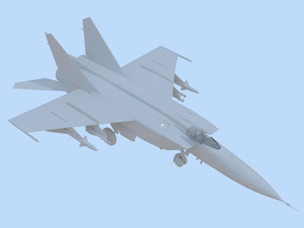 MiG-25 PD, Soviet Interceptor Fighter  (Vista 5)
