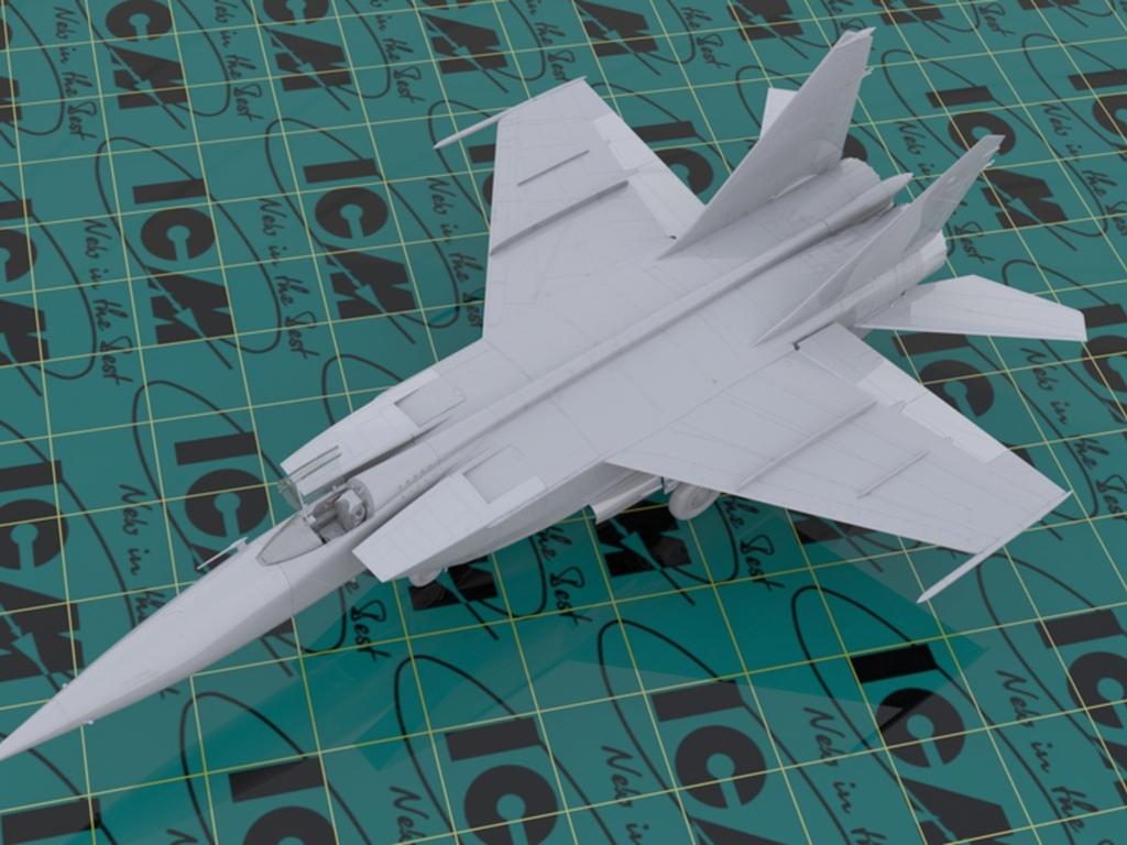 MiG-25 RBF, Soviet Reconnaissance Plane  (Vista 2)