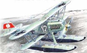 Hidroavion Aleman Heinkel HE 51B-2  (Vista 1)