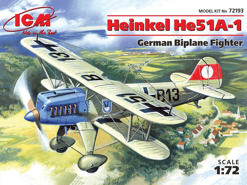 Henkel He-51 A1 German fighter-biplane  (Vista 1)