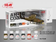 Set de pintura acrílica para AH-1G Cobra - Ref.: ICMM-3001