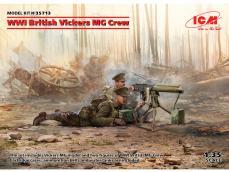 Ametralladora Britanica Vickers y dotacion - Ref.: ICMM-35713