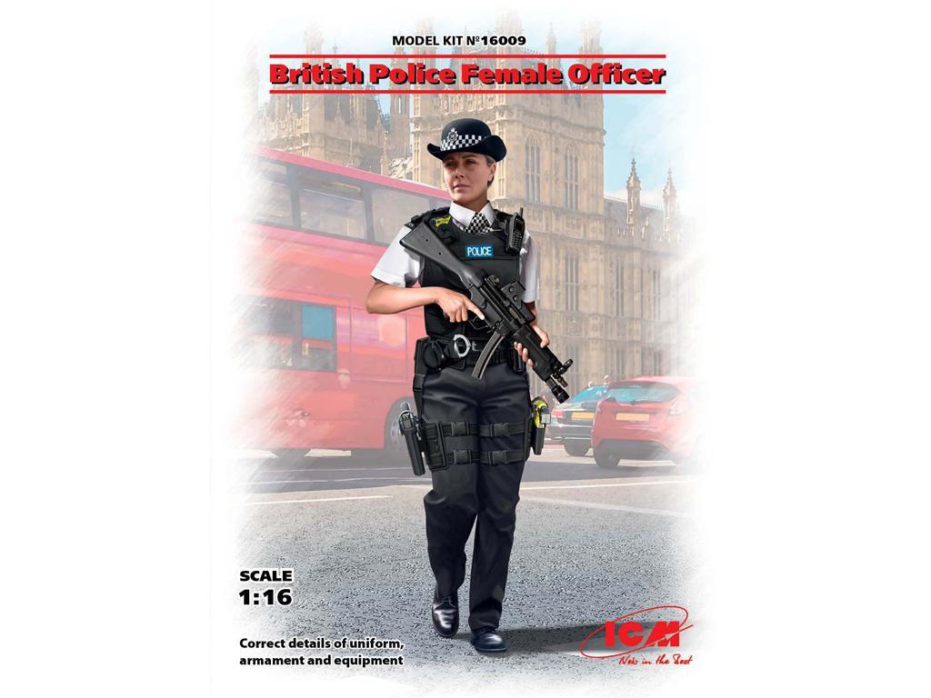 Oficial femenino de la policía británica (Vista 1)