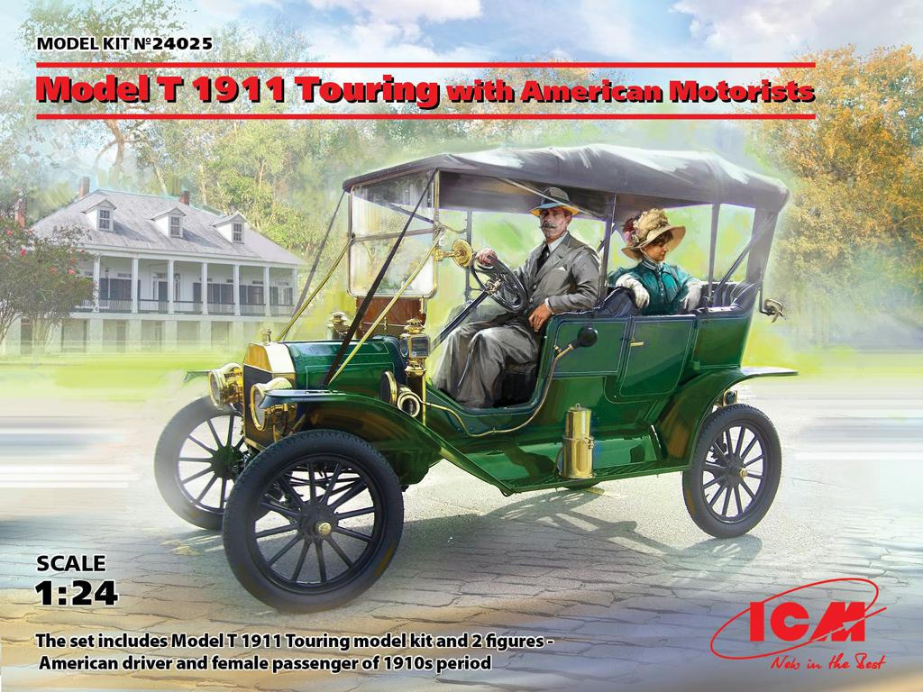 Model T 1911 Touring with American Motorists (Vista 1)