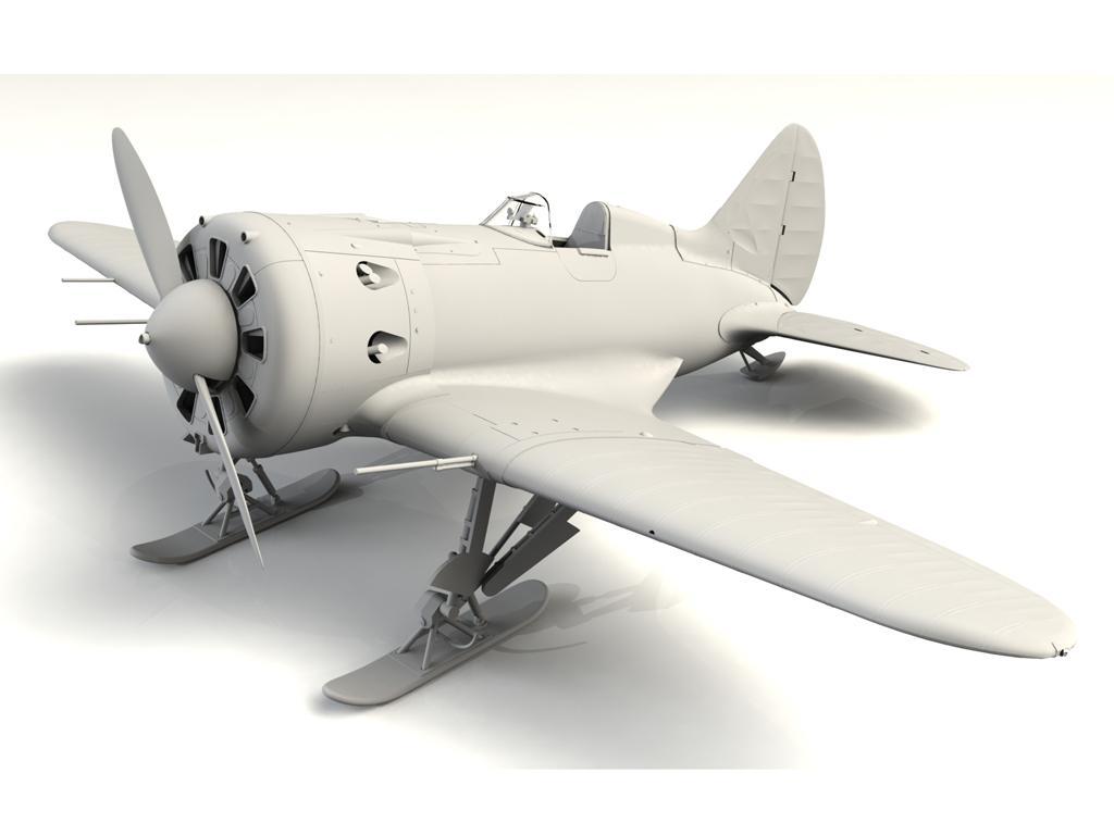 I-16 type 17, WWII Soviet Fighter (Vista 3)
