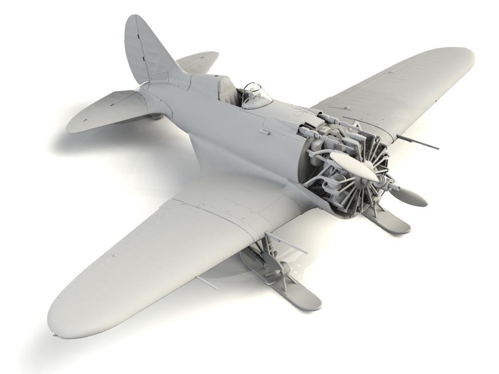 I-16 type 17, WWII Soviet Fighter (Vista 5)