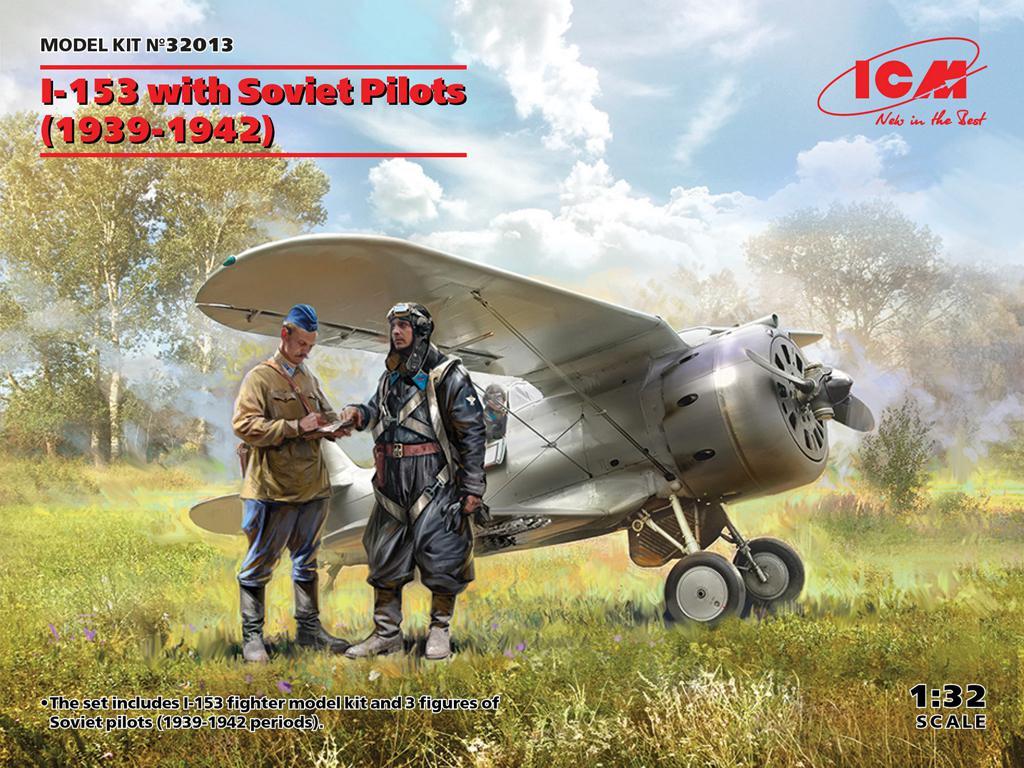 I-153 con pilotos soviéticos (Vista 1)