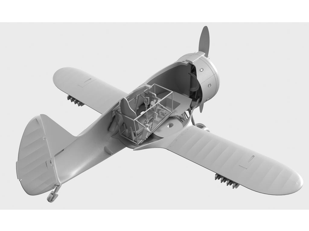 I-153 con pilotos soviéticos (Vista 2)