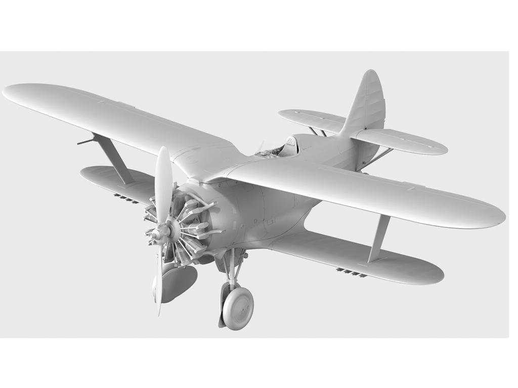 I-153 con pilotos soviéticos (Vista 3)