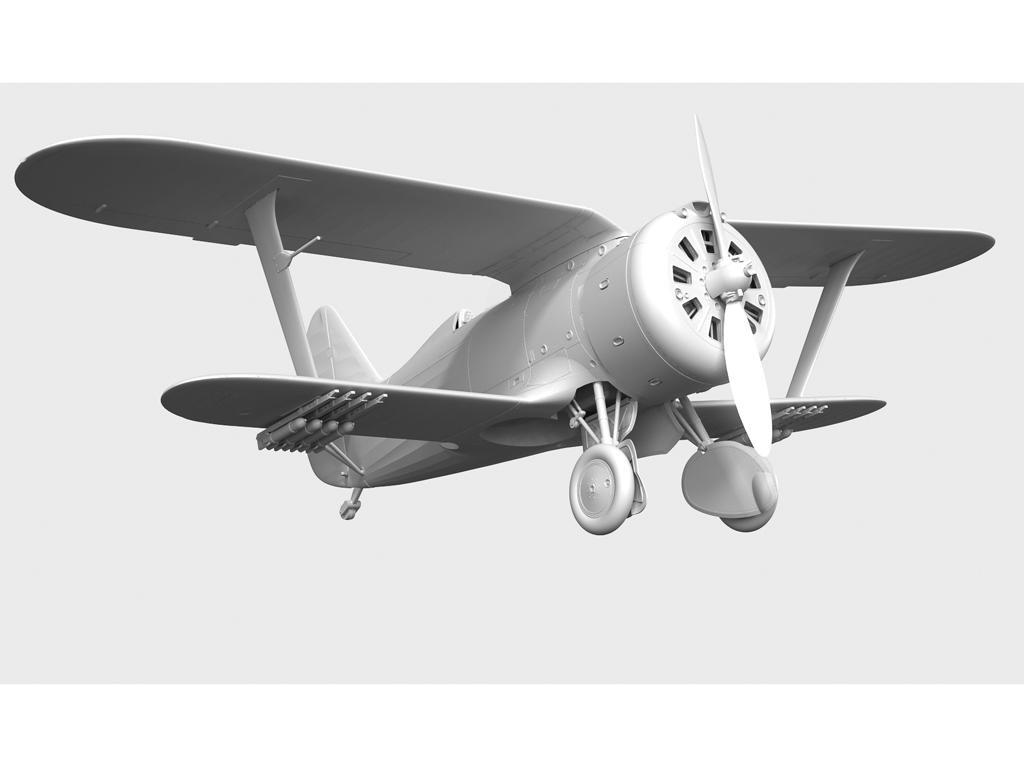 I-153 con pilotos soviéticos (Vista 4)