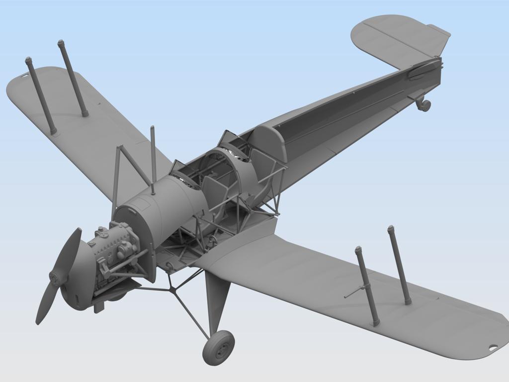 Bücker Bü 131B, German Training Aircraft (Vista 2)
