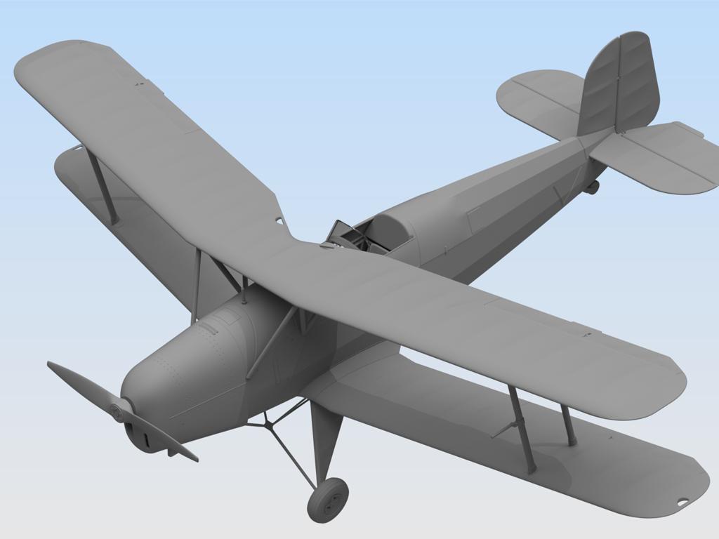 Bücker Bü 131B, German Training Aircraft (Vista 3)