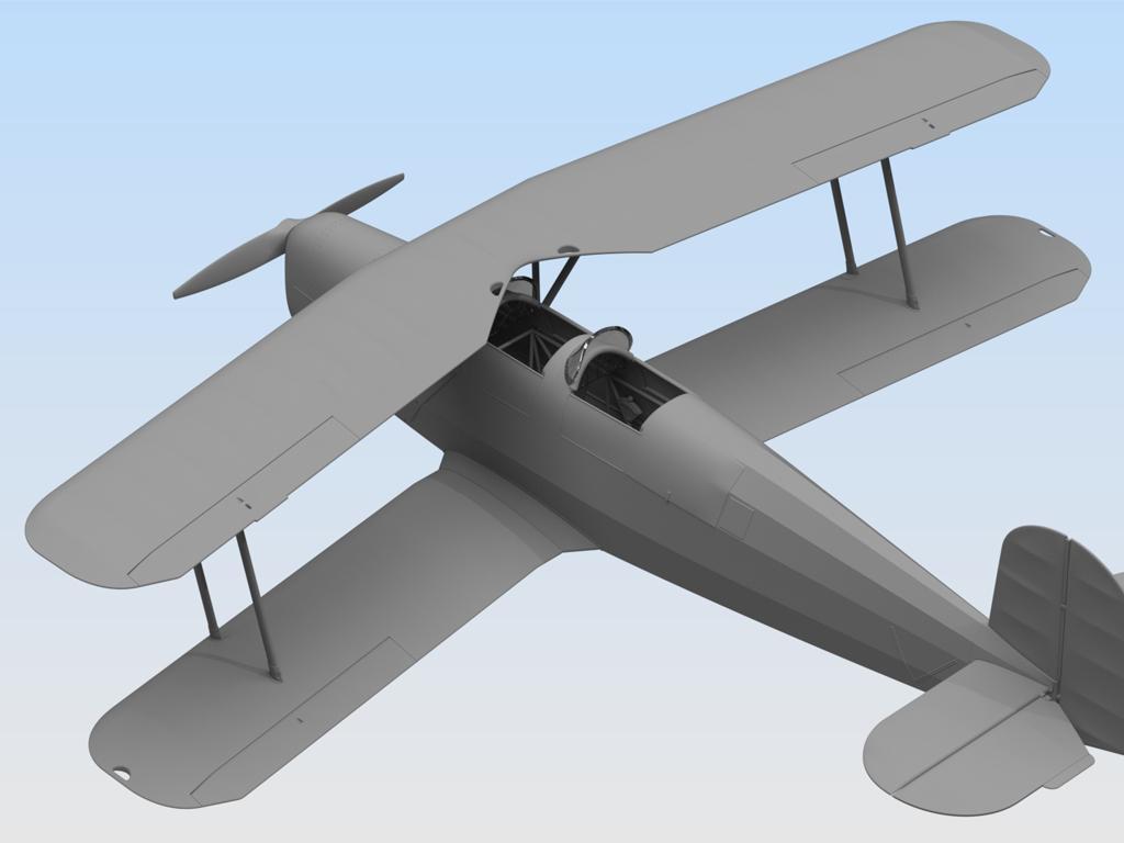 Bücker Bü 131B, German Training Aircraft (Vista 4)
