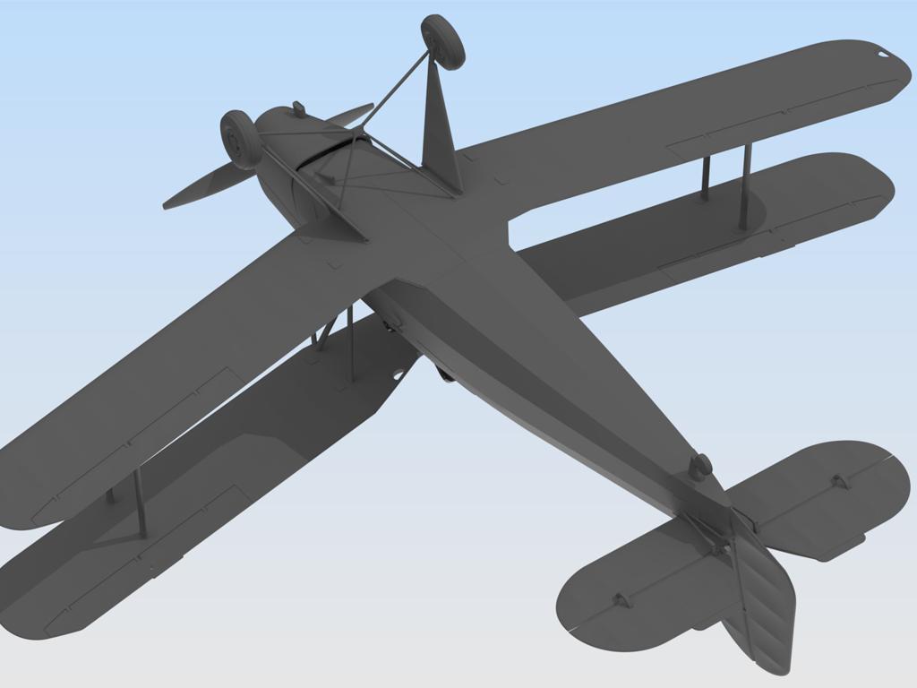 Bücker Bü 131B, German Training Aircraft (Vista 5)