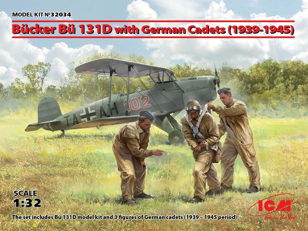 Bucker Bu 131D con cadetes alemanes 1939-1945 (Vista 1)