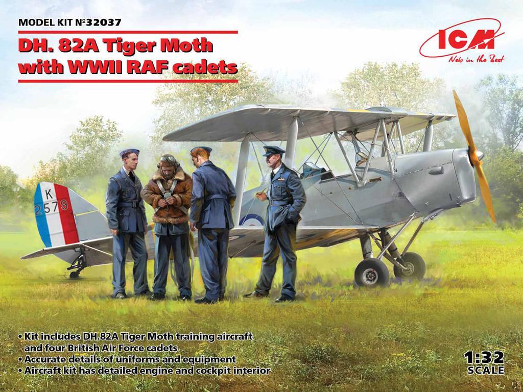 DH. 82A Tiger Moth con cadetes de la RAF (Vista 1)