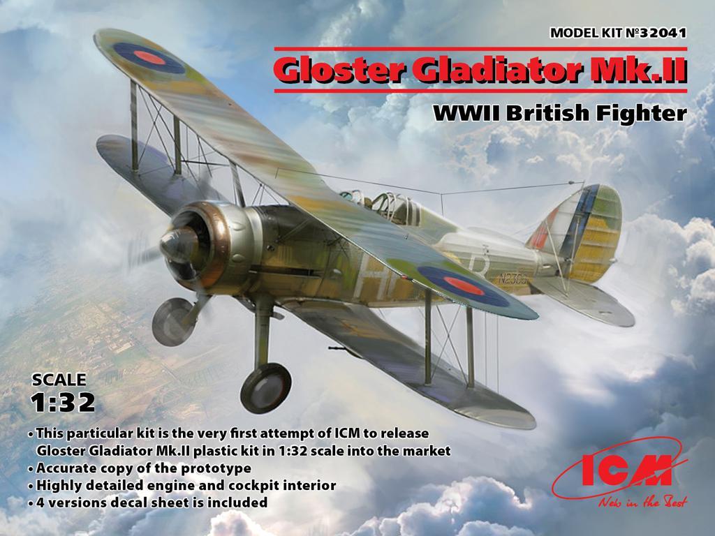 Gloster Gladiator Mk.II, WWII British Fighter (Vista 1)