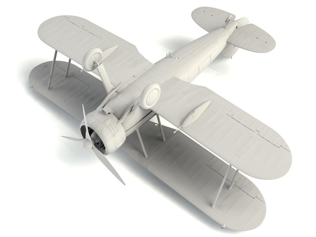 Gloster Gladiator Mk.II, WWII British Fighter (Vista 2)