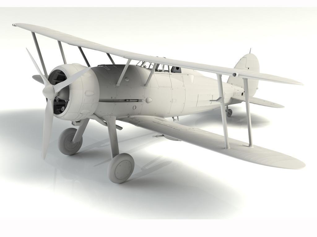 Gloster Gladiator Mk.II, WWII British Fighter (Vista 3)