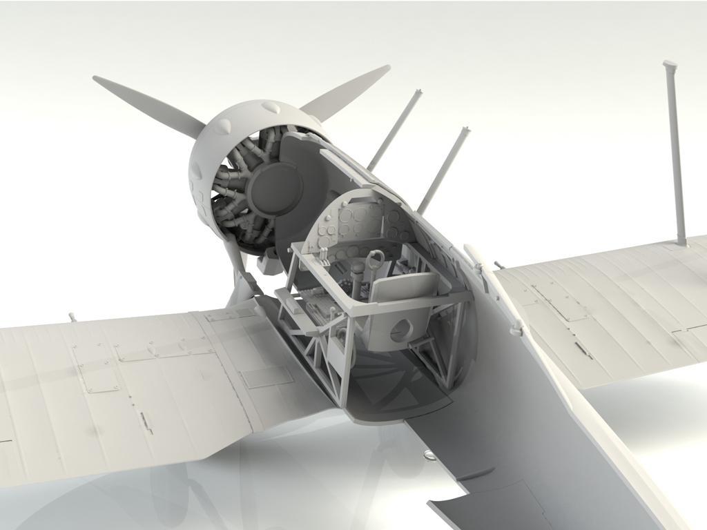 Gloster Gladiator Mk.II, WWII British Fighter (Vista 5)