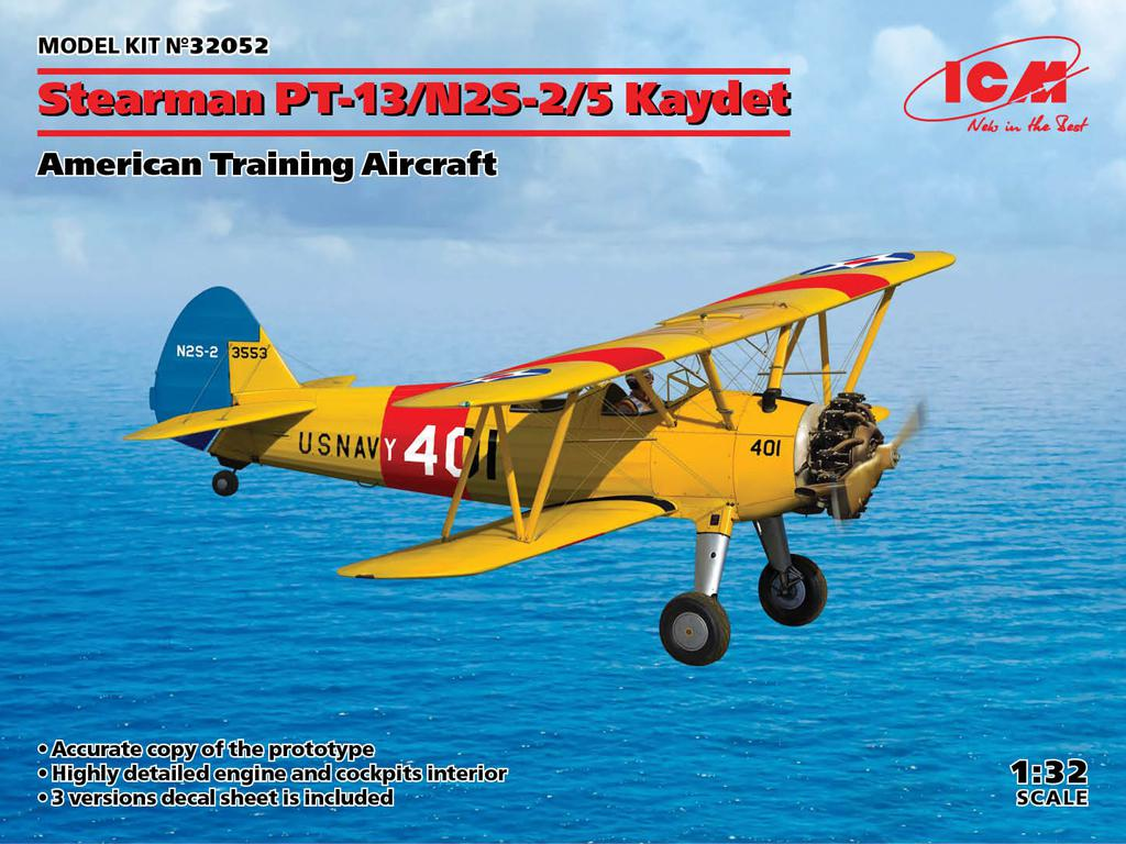 Stearman PT-13/N2S-2/5 Kaydet, American Training Aircraft (Vista 1)