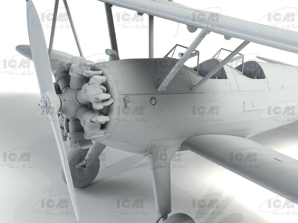 Stearman PT-13/N2S-2/5 Kaydet, American Training Aircraft (Vista 9)
