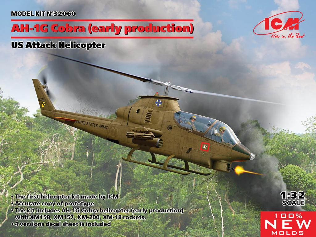 AH-1G Cobra (early production), US Attack Helicopter  (Vista 1)