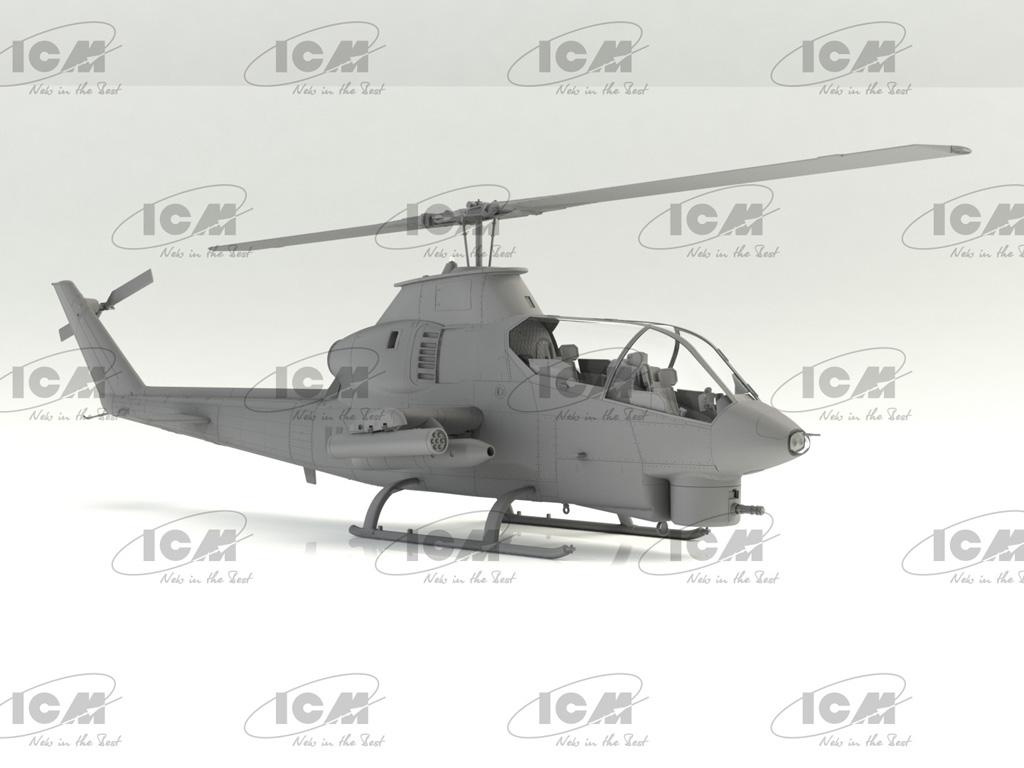 AH-1G Cobra (early production), US Attack Helicopter  (Vista 3)