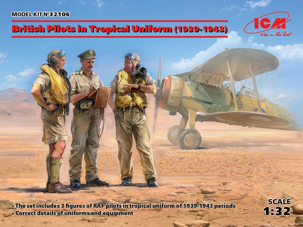 Pilotos Británicos en uniforme tropical 1939-1943 (Vista 1)