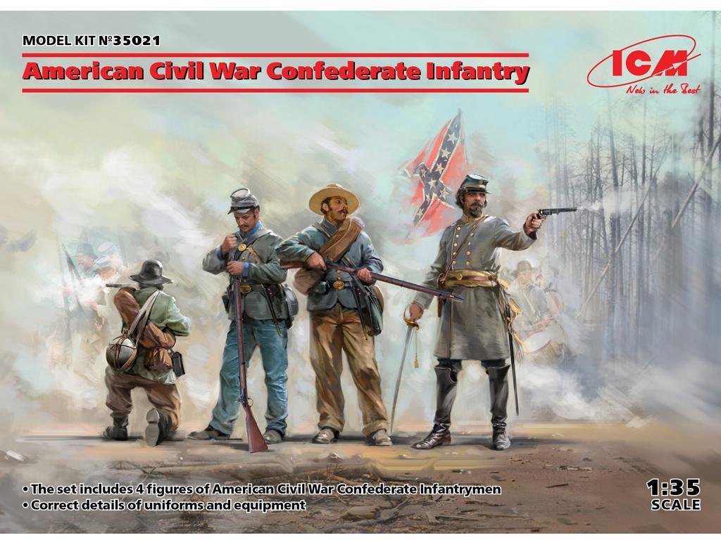 Infanteria Confederada Guerra Civil Americana (Vista 1)