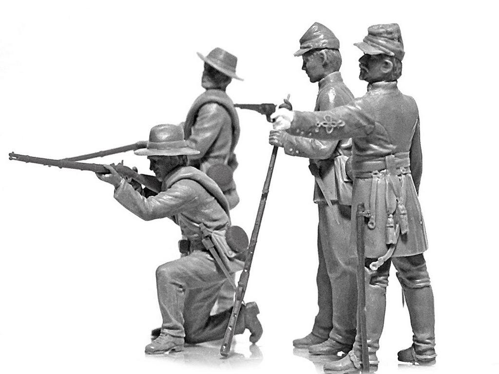 Infanteria Confederada Guerra Civil Americana (Vista 4)