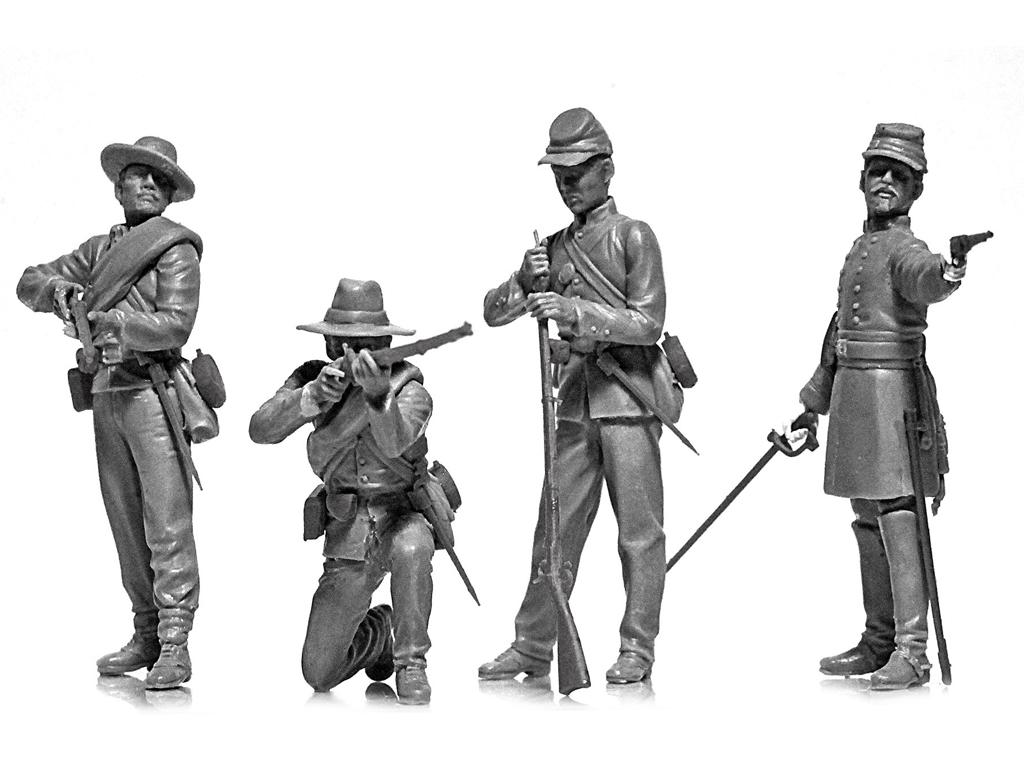 Infanteria Confederada Guerra Civil Americana (Vista 5)