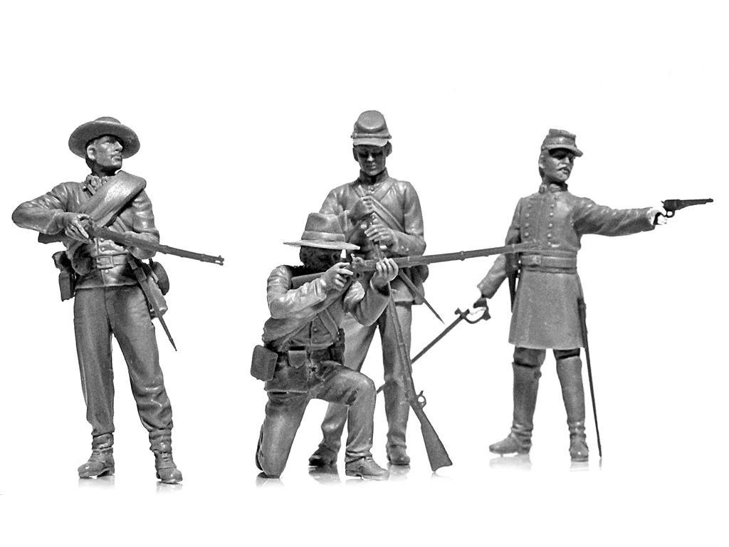 Infanteria Confederada Guerra Civil Americana (Vista 6)
