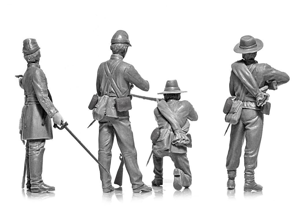 Infanteria Confederada Guerra Civil Americana (Vista 8)