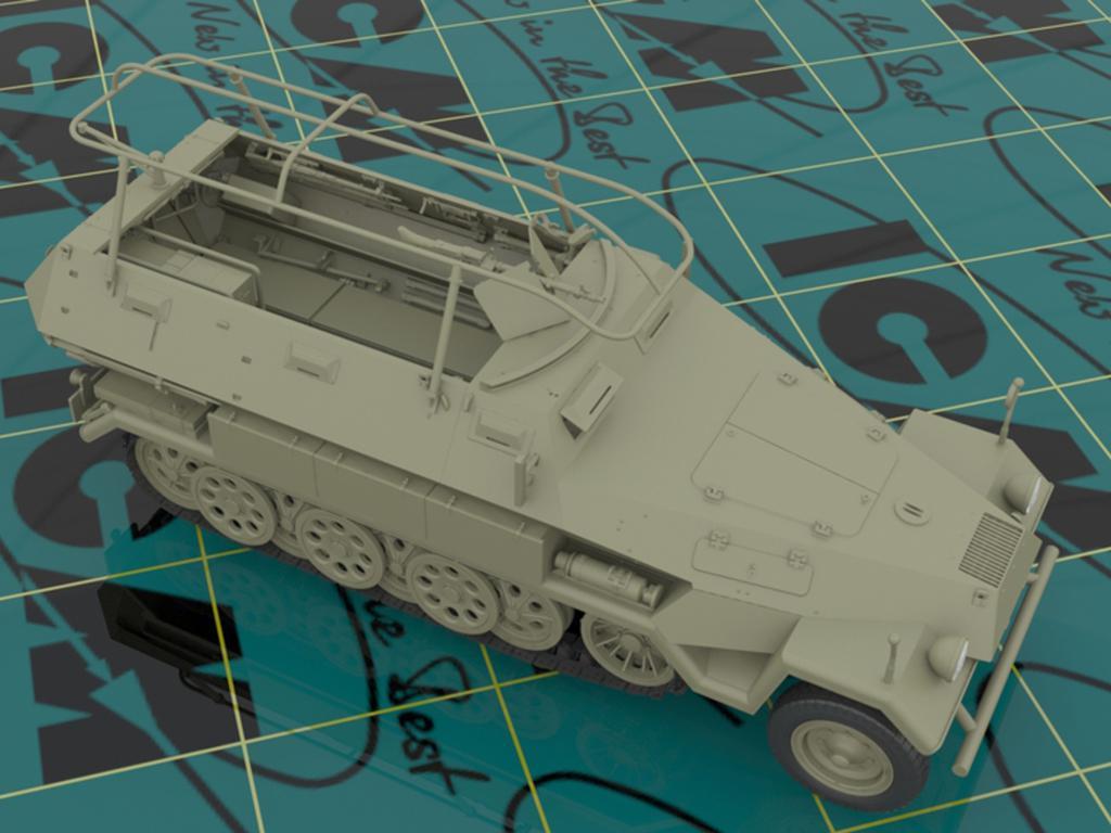 Sd.Kfz.251 / 6 Ausf.A con tripulación (Vista 3)