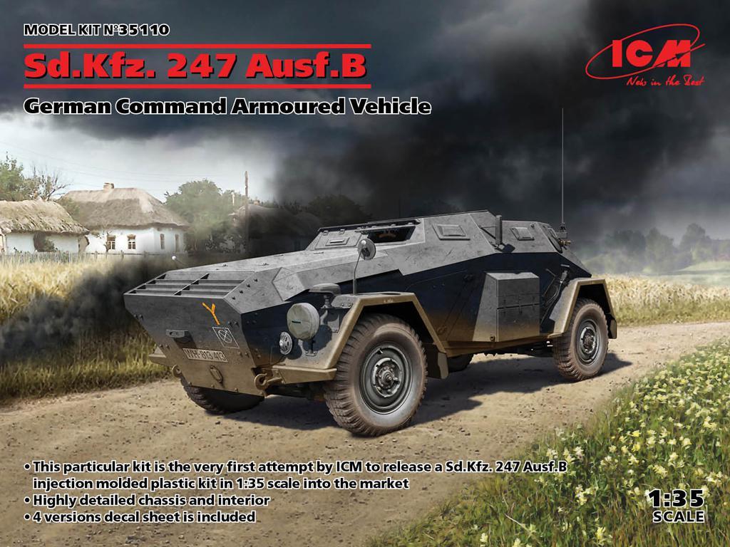 Sd.Kfz. 247 Ausf.B, Vehículo blindado de mando Alemán (Vista 1)