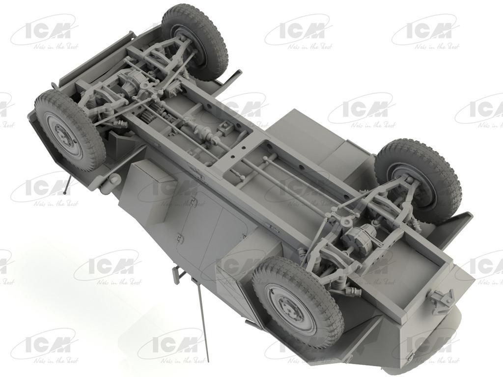 Sd.Kfz. 247 Ausf.B, Vehículo blindado de mando Alemán (Vista 7)