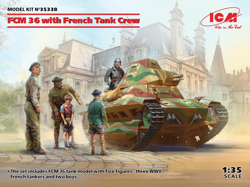 FCM 36 con la tripulación de un tanque Francés (Vista 1)
