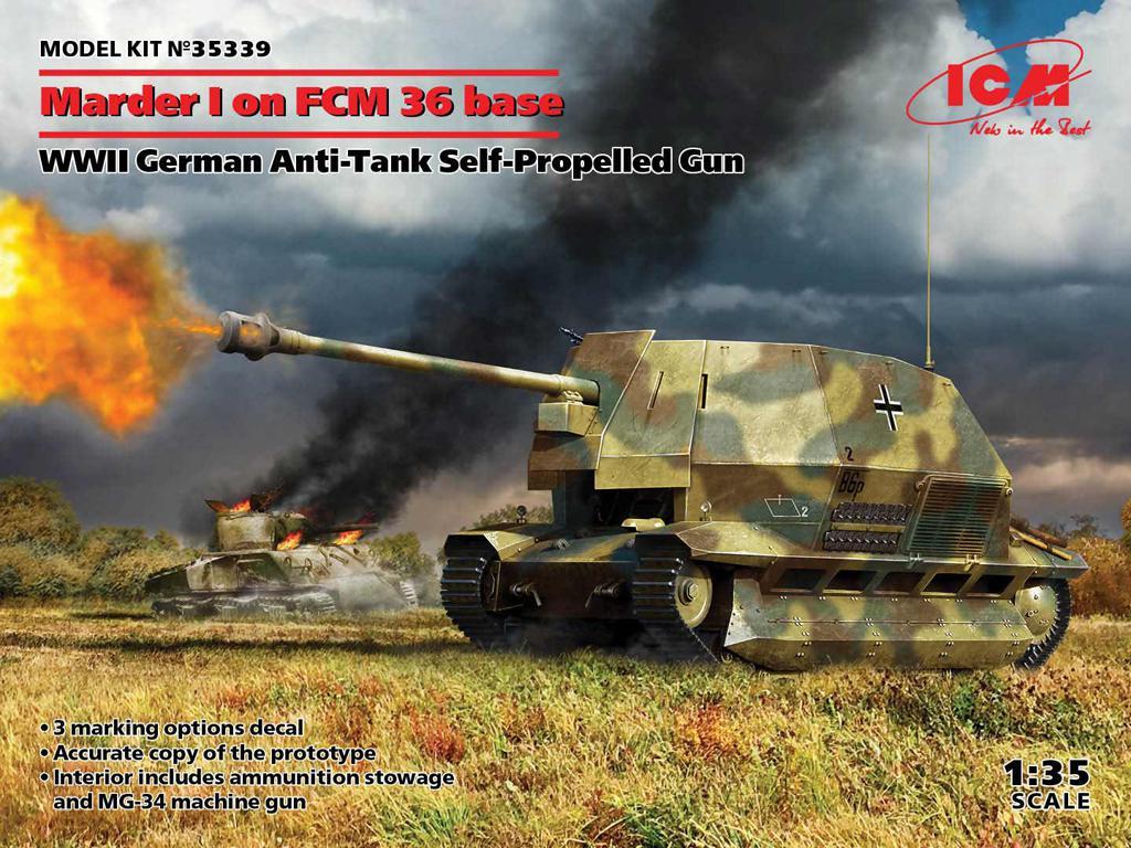 Marder I on FCM 36 base, WWII German Anti-Tank Self-Propelled Gun (Vista 1)